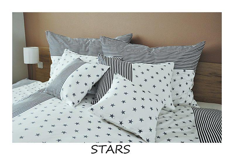 Kvalitné bavlnené obliečky Stars v kombinácií hviezd a prúžkov Fitex