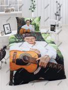 Saténové obliečky s Karlom Gottom s gitarou   1x 140/200, 1x 90/70