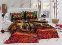 Bavlnené obliečky s motívom lesa v jesenných farbách  v digitálnej tlači | 1x 140/200, 1x 90/70