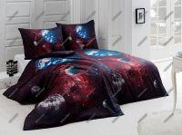 Bavlnené obliečky Vesmír s motívom vesmíru v tmavých farbách   1x 140/200, 1x 90/70