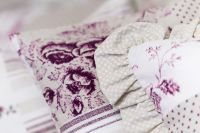 Bavlnené obliečky Patchwork Deluxe šedo-lila český výrobce