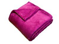 Príjemná a hebká soft deka malinovej farby   150/100, 150/200
