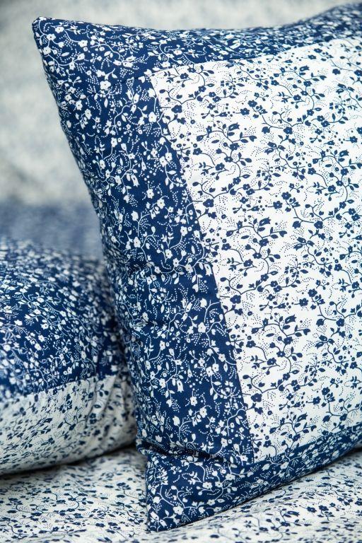 Poťah prešívaný VĚTVIČKY modro-bílé český výrobce