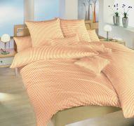 Bavlnené obliečky českej výroby so vzorom jemných prúžkov Prúžky oranžové   1x 140/200, 1x 90/70
