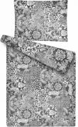 Obliečky z mikroflanelu Patchwork šedý s motivem patchworku   1x 140/200, 1x 90/70, 1x 40/40